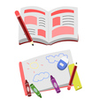 Opened Book Cartoon Clip Art vector image