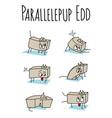 parallelepup edd vector image