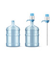 pump cooler and big bottle for clean water vector image vector image