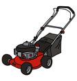 Red garden lawn mower vector image vector image