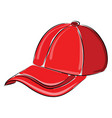 red hat on white background vector image vector image