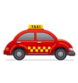 red taxi icon vector image vector image