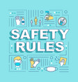 safety rules word concepts banner vector image