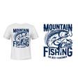 salmon or trout fish t-shirt print fishing club vector image vector image
