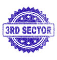 scratched 3rd sector stamp seal vector image vector image