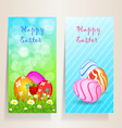 Set of template Easter card vector image vector image