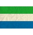 Sierra Leone paper flag vector image vector image