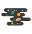 space cartoon background vector image vector image