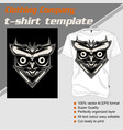 t shirt template owl isolated and easy to edit vector image