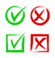 tick and cross signs symbols yes and no accept vector image vector image