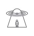 ufo line icon concept ufo linear vector image vector image