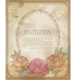 vintage invitation background vector image vector image