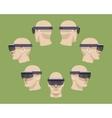 Virtual reality headset vector image vector image