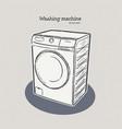 washing machine hand draw sketch vector image