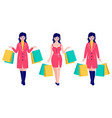 women with packages vector image vector image