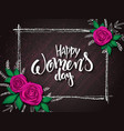 womens day card with vector image vector image