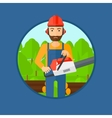 Woodcutter with chainsaw vector image
