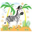 zebra in scandinavian style vector image