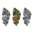 Zentangle stylized feathers vector image vector image