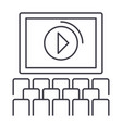 cinema screen show line icon sign vector image
