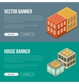 Estate banner with houses vector image