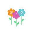 bio logo flowers vector image