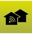 wireless signal design vector image