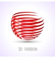 3d ribbon for your designs presentations and vector image
