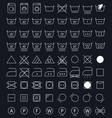 laundry care symbols vector image