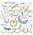 romantic hipster icons vector image
