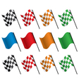 set of racing flags vector image
