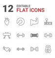 12 muscle icons vector image vector image