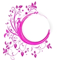 Abstract banner with curls of pink color vector image vector image