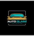 auto glass logo vector image vector image