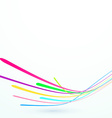 Bright speed stream lines background template vector image vector image