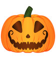 cartoon jack o lantern pumpkin vector image