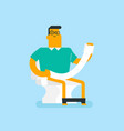 caucasian white man suffering from constipation vector image vector image