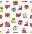 christmas pattern with bags vector image