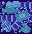 cinema and movie seamless pattern vector image