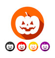classic halloween pumpkin flat icons vector image vector image