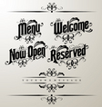 classical restaurant decorative vector image vector image