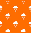 cloud and snowflakes pattern seamless vector image vector image