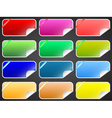 Colorful labels collection vector image