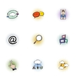 Computer data icons set pop-art style