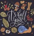 cozy fall autumn card vector image vector image