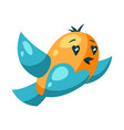 cute bird in love valentine day vector image