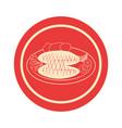 delicious fish sea food vector image vector image