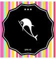 dolphin symbol icon vector image