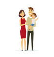 family - colored modern flat vector image