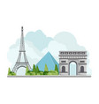 france travel landmarks vector image